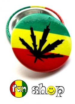 Przypinka reggae liść
